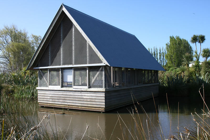 Cedar Clad Viewing House Travis Swamp <small class='portfolio-subtitle'> Christchurch</small>