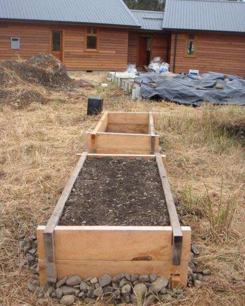Macrocarpa garden beds, Nelson