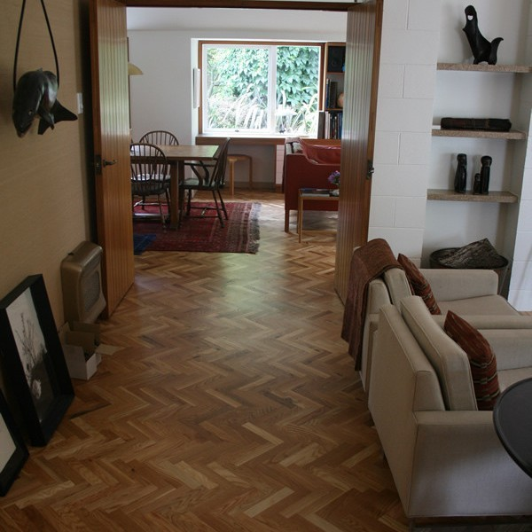NZ Oak Parquet Floor <small class='portfolio-subtitle'> Ballantyne House, Christchurch</small>