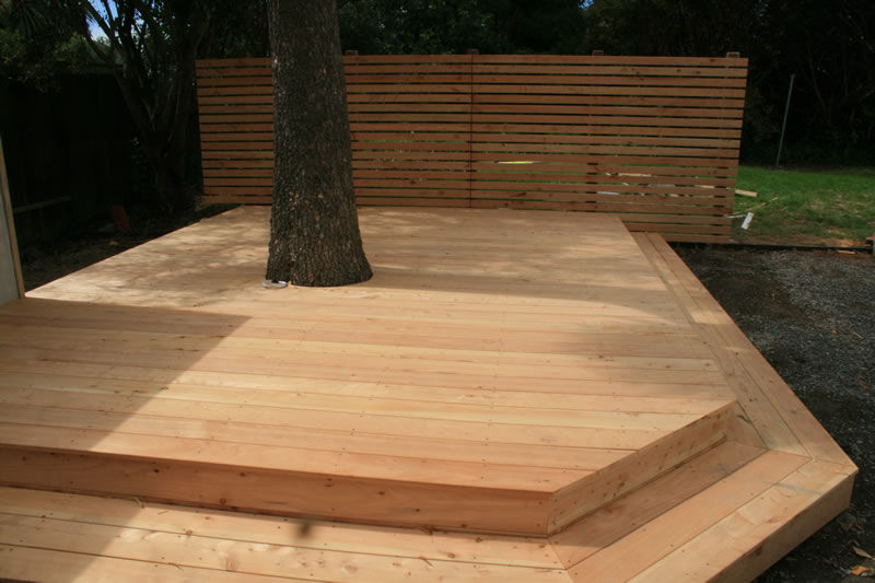 Macrocarpa Screen Deck