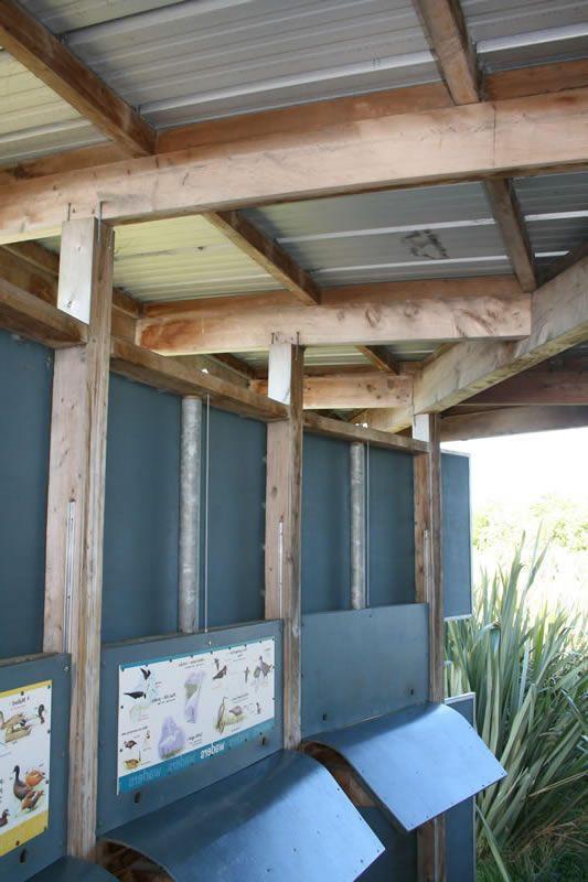 Macrocarpa Beams,  Bird Watch, Travis Reserve, Christchurch