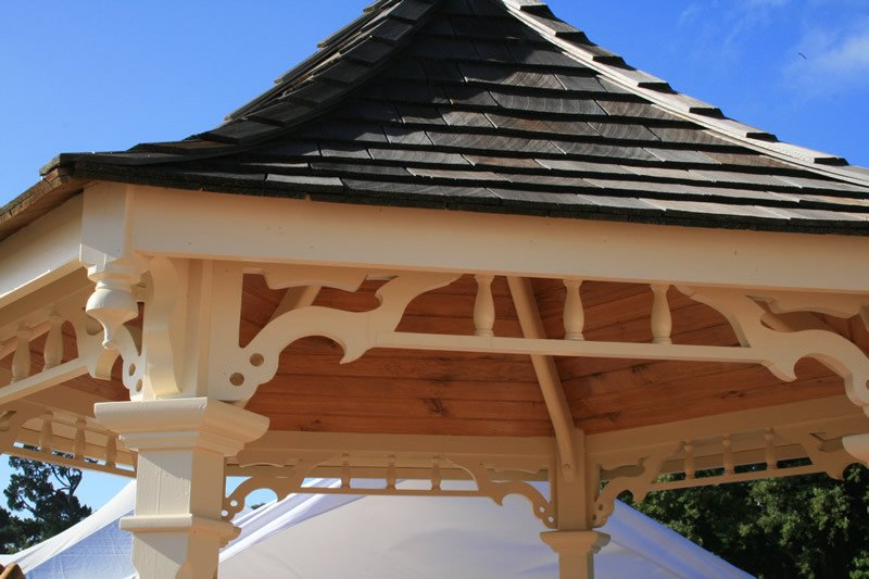 Macrocarpa Gazebo with Cedar shingles