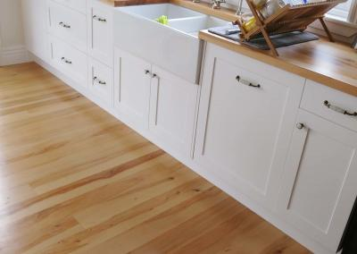 Solid Miro Timber Floor and Kitchen Benchtop