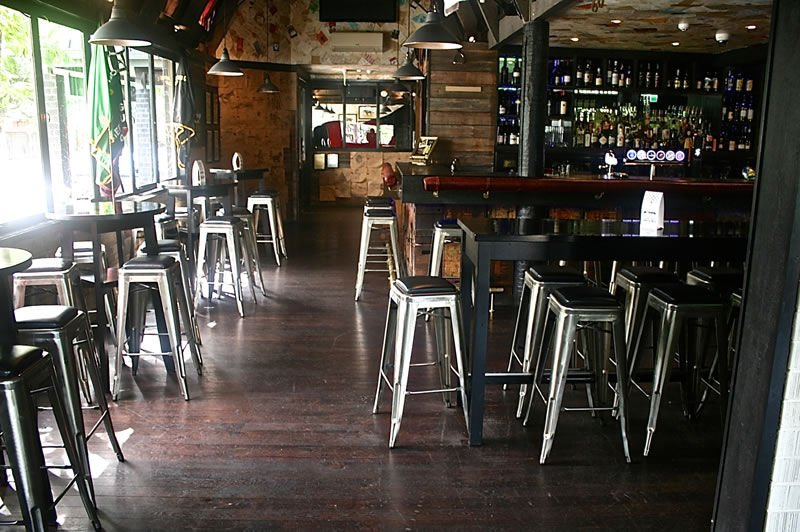 NZ Hard Oak Dark Stained || One Good Horse Restaurant, Christchurch