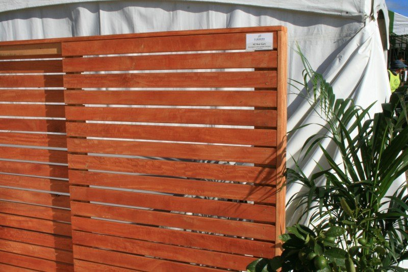 NZ Red gum fence rails