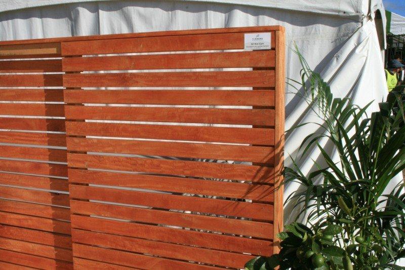 NZ Red gum fence rails