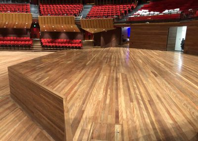 Christchurch Town Hall – Jarrah Parquet, Rimu, Brush Box Timber Flooring
